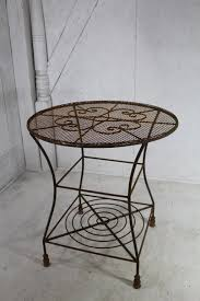 30 round wrought iron patio table lawn furniture