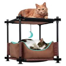 Kitty City Cat Cozy Bed Brown Tar