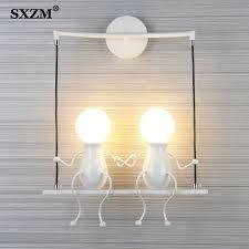 E27 Moderne Led Wand Lampe Kreative Montiert Eisen Leuchte Wand