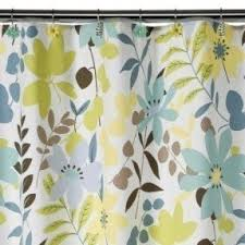 brown and blue shower curtain. i like the muted hues of blue, brown, yellow. calming brown and blue shower curtain t