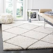 off white area rug. Clay Alder Home Horton Mill Diamond Shag Ivory/ Grey Large Area Rug (10\u0027 Off White