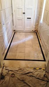 marble tiled enterance congleton before cleaning