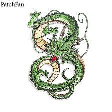 10pcs/lot <b>Patchfan Dragon ball z</b> Shenron applique patches diy iron ...