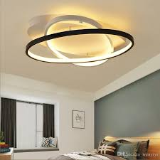 2019 modern bedroom led ceiling lights white black living room kitchen ceiling lamp satellite orbitled remote control from wenyiyi 114 58 dhgate com