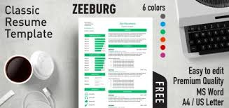 Free Resume Templates Simple Free Effective Resume Templates for MS Word Rezumeet