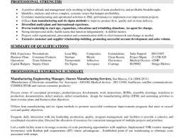 Business Analyst Resume Templates Samples With Manufacturing