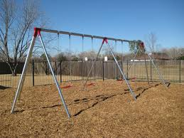 2 bay sections heavy duty swing galvanized
