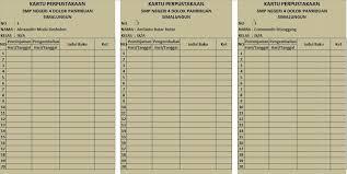 Selengkapnya mengenai susunan dan isi berkas ini silahkan lihat dan download file pada link di bawah ini: Format Kartu Perpustakaan Excel Revisi Sekolah