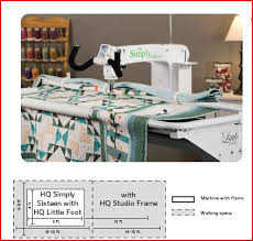 HQ Longarm & Combined with the HQ Little Foot frame system, the HQ Simply Sixteen  enables any quilter, beginner to advanced, to finish any size quilt ... Adamdwight.com