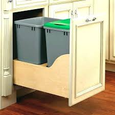 diy trash can cabinet garbage can cabinet pull out trash white kitchen base or wood double
