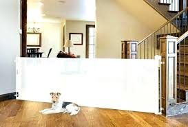 retractable dog gates garage door gate for outdoor fence design ideas with regard pet australia