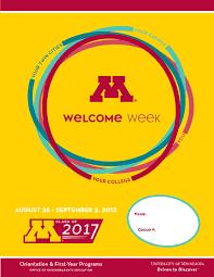 2013 Welcome Week Student Handbook By Orientation First Year