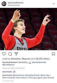 Lauris Brother Trash Talking Knicks Fans On Instagram Chicagobulls