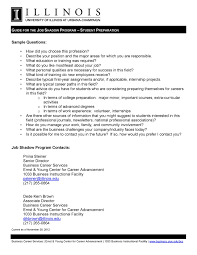 Questions To Ask At Job Shadow Here Is A List Of Sample Questions You Can Ask During Your Job