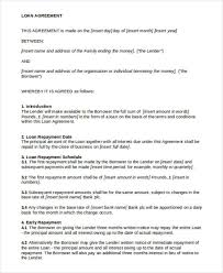 Family Loan Template 28 Images Of Family Loan Agreement Template Leseriail Com