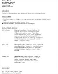 Dance Resumes Dancer Contract Template Dance Resumes Template Resume Builder