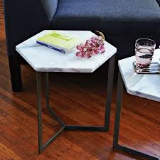 hex side table steel