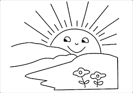Colouring Sheets For Children Printable Sunshine Coloring Sheet Free