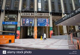 general view gv of madison square garden entrance in new york city ny usa