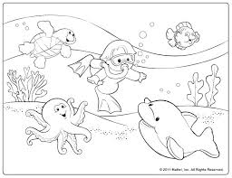 Beach Coloring Pages At The Beach Coloring Page At The Beach