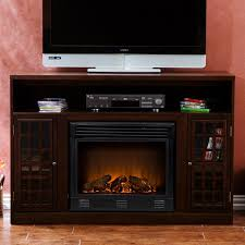 southern enterprises narita espresso media console with electric fireplace hayneedle