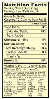 sargento natural provolone sliced cheese nutrition facts