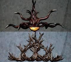 rustic antler chandeliers kudu mule chandelier