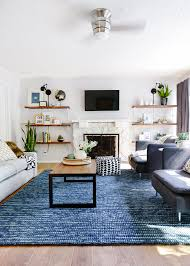 Image Royal Blue Check Out This Living Room Transformation By Yellow Brick Home Updated Paint And Furniture Make Big Impact In This Space Pinterest Lowes Spring Makeover Reveal Bold Style Living Room Decor