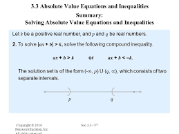 3 3 absolute value equations and inequalities