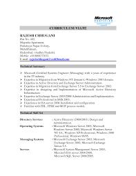 Amazing Exchange Server Resume Doc Photos Example Resume And