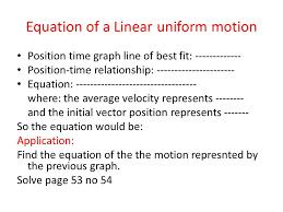 equation of a linear uniform motion
