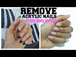 how to remove acrylic nail without