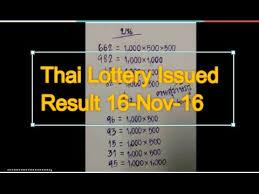Thai Lottery Result Chart 2016 Full Thai Lottery Result Daily Thai Lottery Results Issued 16