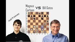 Magnus Carlsen VS Bill Gates Chess gameplay - YouTube