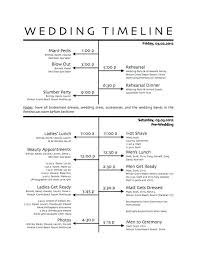 Wedding Reception Timeline Of Events Template Schedule