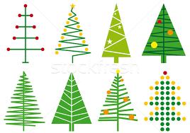 simple christmas tree designs, vector vector illustration  beaubelle  (#420207) | Stockfresh