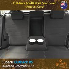 full back front rear seat covers armrest access for subaru outback