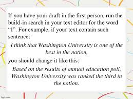 write a paper in third person use third person point of view writing commons