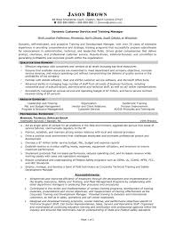 customer service trainer resume sample best format objectives for customer service resumes