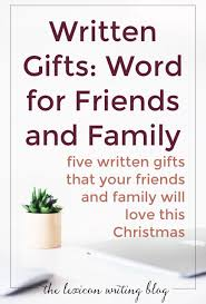 The Word Gift Written Gifts Words For Friends