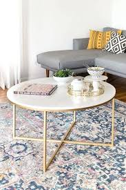 marble and gold round coffee table target