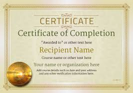 free certificate of completion template certificate of completion free quality printable templates download