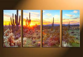 home decor 4 piece canvas art prints scenery canvas print scenery wall art on 4 piece wall artwork with 4 piece large canvas scenery huge pictures saguaro cactus artwork