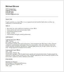 Free Resume Templates Microsoft Office Amazing Resumesamplesofficerresumescommercialloanofficer