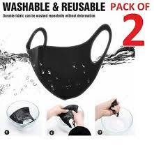 2 x reusable face mask covering