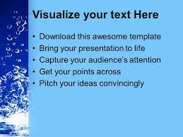 0313 Save Water Save Life Conservation Powerpoint Templates