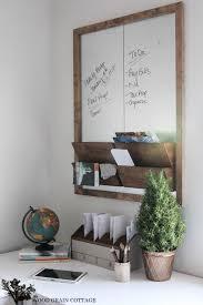 diy office wall organizer message