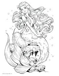 Free Printable Mermaid Coloring Pages Davidstyleinfo