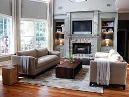 Living Room Furniture Arrangement With Fireplace Brick Fireplace For Classic Living Room Furniture Arrangement