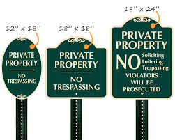 Decorative Private Property Signs